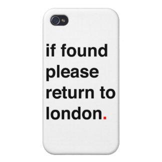 Si por favor encontrada vuelta a Londres iPhone 4/4S Fundas