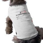 Si por favor perdida camisa de vuelta del perro ropa perro