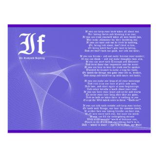 SI por la púrpura de Rudyard Kipling Tarjetas Postales