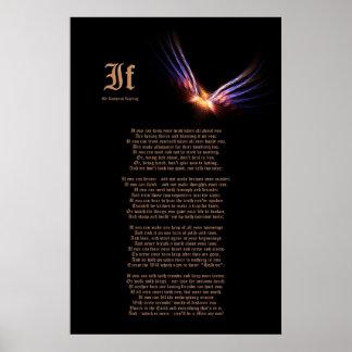 Si por Rudyard Kipling con la impresión de Phoenix Impresiones