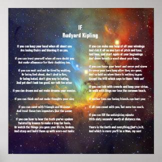 Si por Rudyard Kipling Póster