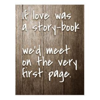 Si postal inspirada de la cita del amor