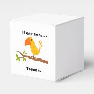 Si puede uno. Dibujo animado de Toucan Caja Para Regalo De Boda