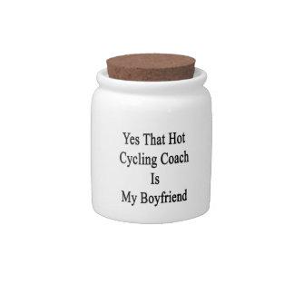 Sí que el coche de ciclo caliente es mi novio jarra para caramelo