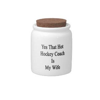 Sí que el coche de hockey caliente es mi esposa jarras para caramelos