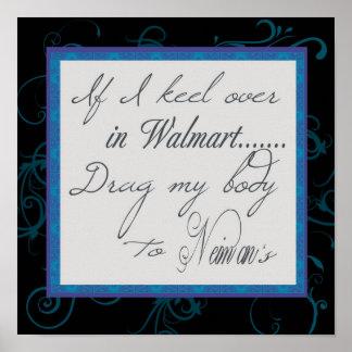 Si quilla de I encima en el poster de Walmart