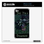 Sí regalos CricketDiane de la fantasía del dragón  Skin Para El iPhone 4
