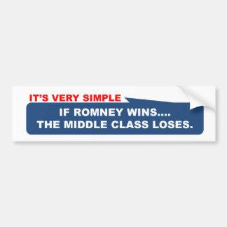 Si Romney gana, la clase media pierde Etiqueta De Parachoque