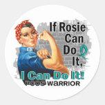 Si Rosie puede hacerlo guerrero de PCOS Pegatina Redonda