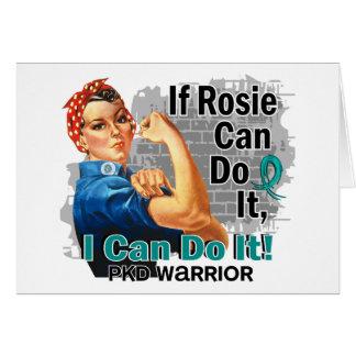 Si Rosie puede hacerlo guerrero de PKD Tarjeta De Felicitación