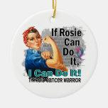 Si Rosie puede hacerlo guerrero del cáncer de Adorno De Navidad