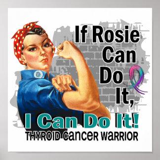 Si Rosie puede hacerlo guerrero del cáncer de tiro Poster