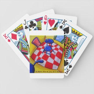 Si sabía donde usted está cartas de juego