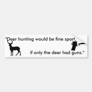 si solamente los ciervos tenían el pegatina de los pegatina para auto