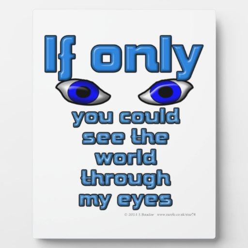 Si solamente usted podría ver el mundo a través de placas