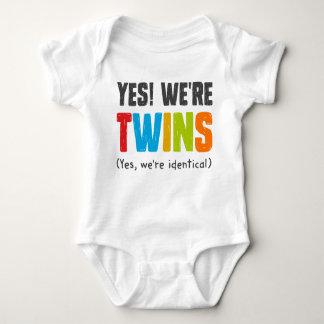 Sí, somos idénticos body para bebé