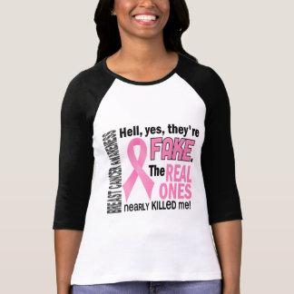 Sí, son cáncer de pecho falso 1,1 remeras