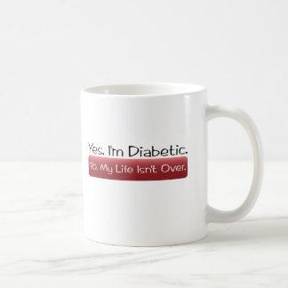 Sí, soy diabético. No, mi vida no ha terminado Taza Básica Blanca