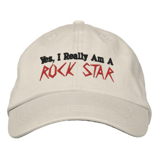 Sí, soy realmente A, ESTRELLA DEL ROCK Gorras Bordadas