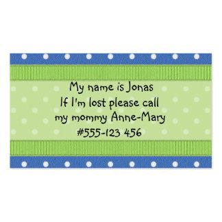 Si soy… tarjetas perdidas tarjetas de negocios