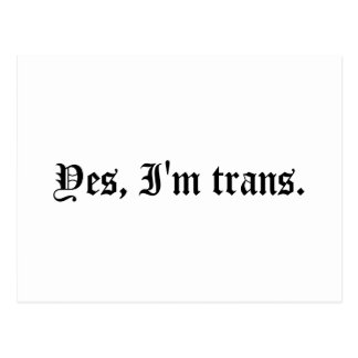 Sí, soy Trans. Postales