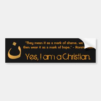 Sí, soy un cristiano pegatina para auto