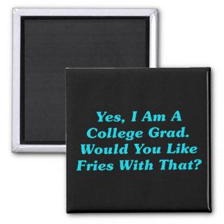 Sí soy un graduado de la universidad ¿Usted tie Iman De Nevera