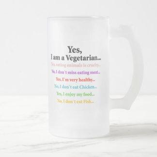 Sí, soy un vegetariano… tazas de café