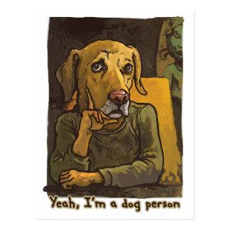 Sí soy una persona del perro tarjetas postales
