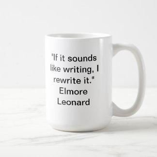 Si suena como la taza de la escritura