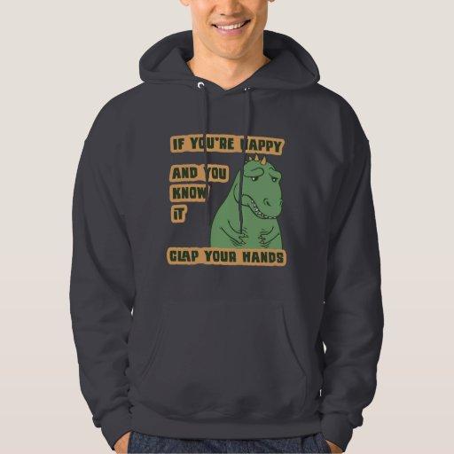 Si sus brazos alcanzan suéter con capucha
