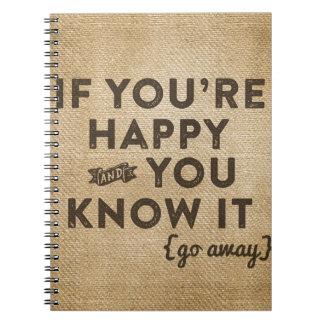 Si sus felices y usted lo saben va la arpillera libretas