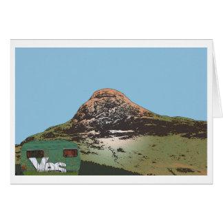 Sí tarjeta de Glencoe Escocia de la caravana