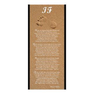 Si - tarjeta del estante del poema de Rudyard Kipl Tarjetas Publicitarias Personalizadas