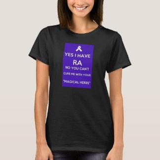 Sí, tengo RA y no, usted no puede curarme camisa