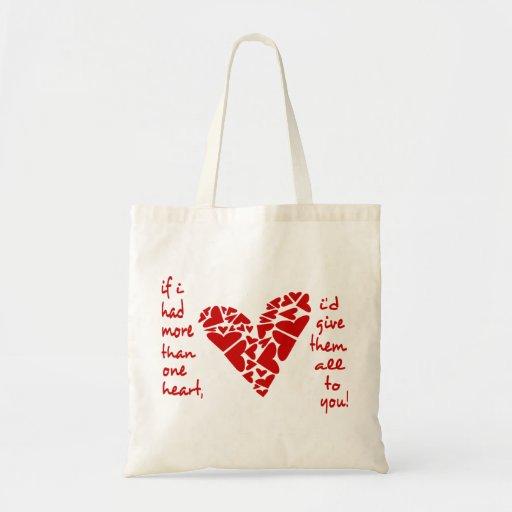 Si tenía más de un corazón, délelos todos bolsa tela barata
