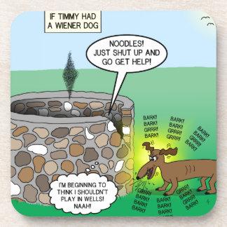 Si Timmy tenía un perro de la salchicha de Posavasos De Bebidas