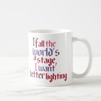 Si todo el mundo es una etapa yo quiera una mejor taza de café