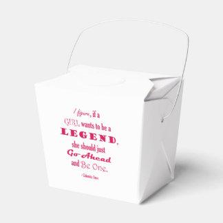 Si un chica quiere ser una leyenda caja para regalo de boda