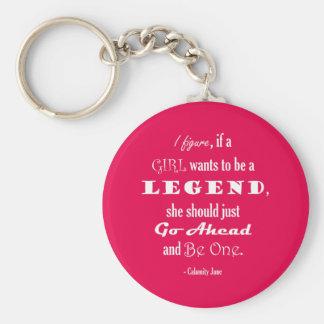 Si un chica quiere ser una leyenda llavero redondo tipo pin