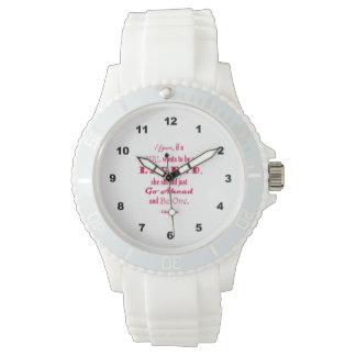 Si un chica quiere ser una leyenda reloj