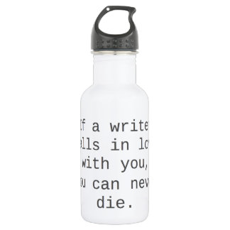 """""""Si un escritor cae en amor con usted… """""""