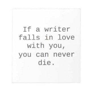 """""""Si un escritor cae en amor con usted…"""" productos Bloc"""