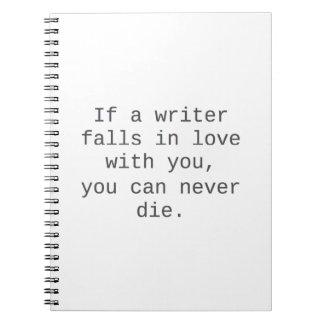 """""""Si un escritor cae en amor con usted…"""" productos Libros De Apuntes"""