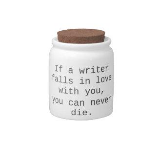 """""""Si un escritor cae en amor con usted…"""" productos Jarra Para Caramelo"""