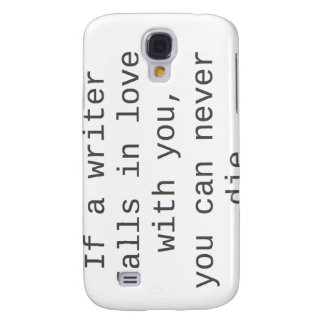 """""""Si un escritor cae en amor con usted…"""" productos Funda Para Galaxy S4"""