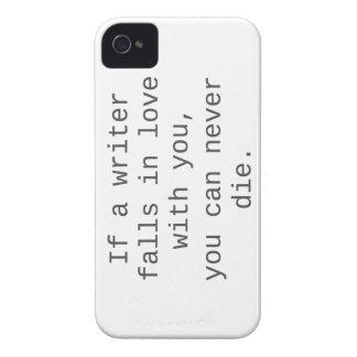 """""""Si un escritor cae en amor con usted…"""" productos Case-Mate iPhone 4 Coberturas"""