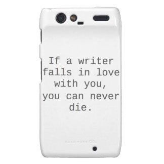 """""""Si un escritor cae en amor con usted…"""" productos Droid RAZR Funda"""