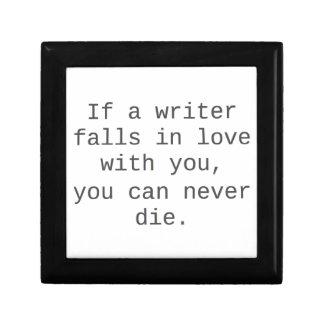 """""""Si un escritor cae en amor con usted…"""" productos Joyero Cuadrado Pequeño"""