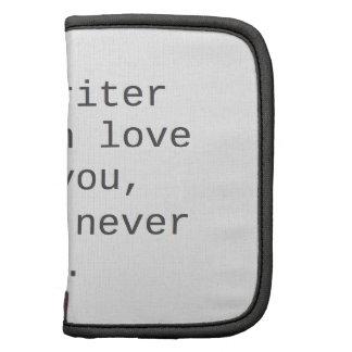 """""""Si un escritor cae en amor con usted…"""" productos Organizador"""